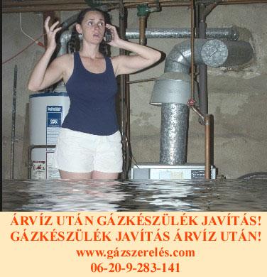 ÁRVÍZ UTÁN GÁZKÉSZÜLÉK JAVÍTÁS!  WWW.GÁZSZERELÉS.COM   06-20-9-283-141